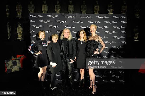Actress Emila Schuele creativ director Susanne Koelbli Thomas Sabo model Lisa Tomaschewsky and Franziska Knuppe attend the Thomas Sabo flagship store...