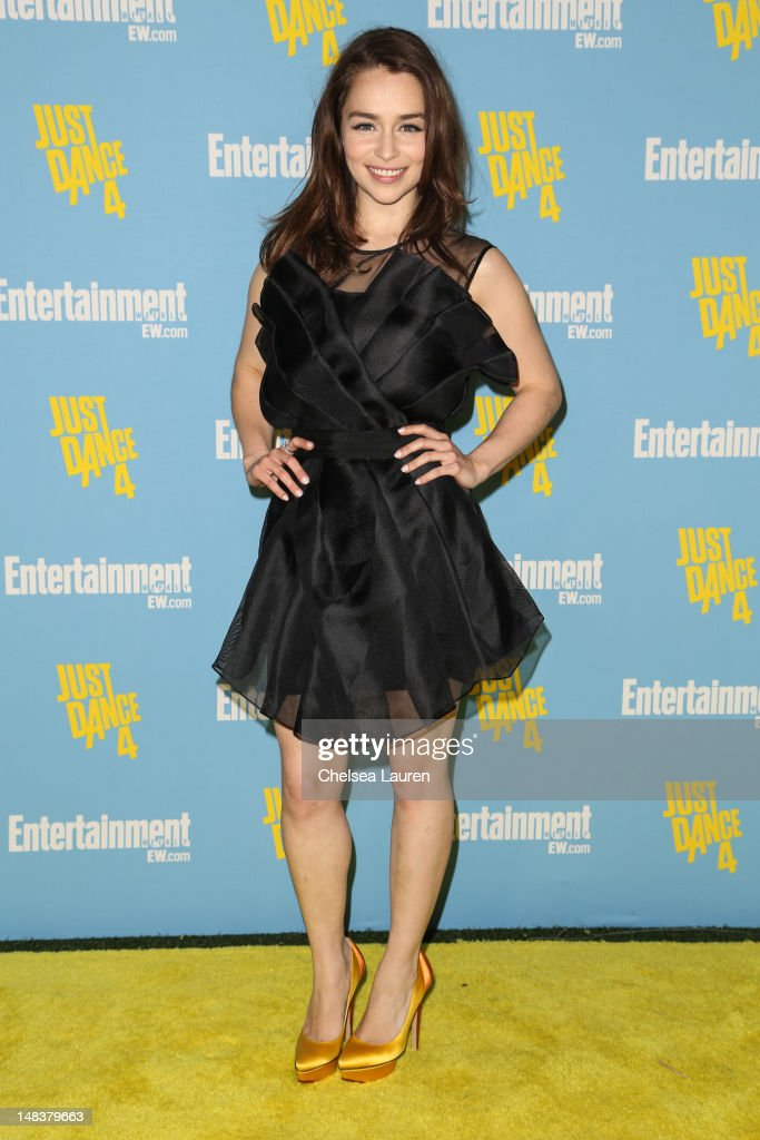 Actress Emilia Clarke arrives at Entertainment Weekly's Comic-Con celebration at Float at Hard Rock Hotel San Diego on July 14, 2012 in San Diego, California.
