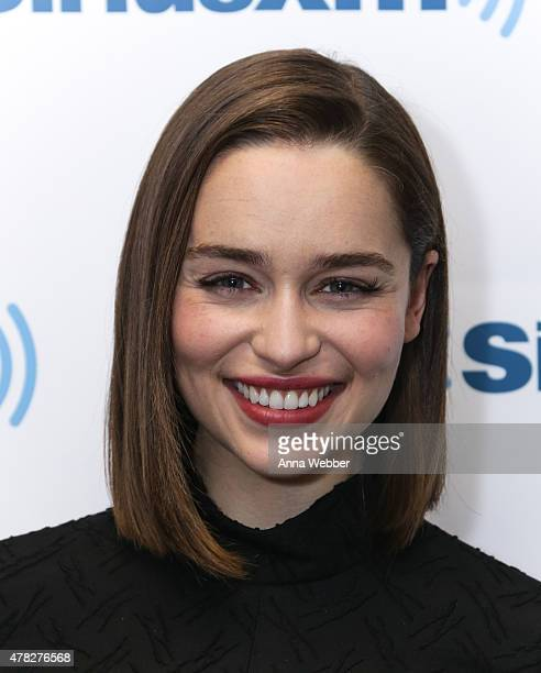 Actress Emilia Clarke arrives to SiriusXM Studios on June 24 2015 in New York City