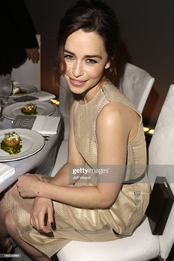 Actress Emilia Clarke attends ELLE's 20th Annual Women In Hollywood Celebration at Four Seasons Hotel Los Angeles at Beverly Hills on October 21, 2013 in Beverly Hills, California.