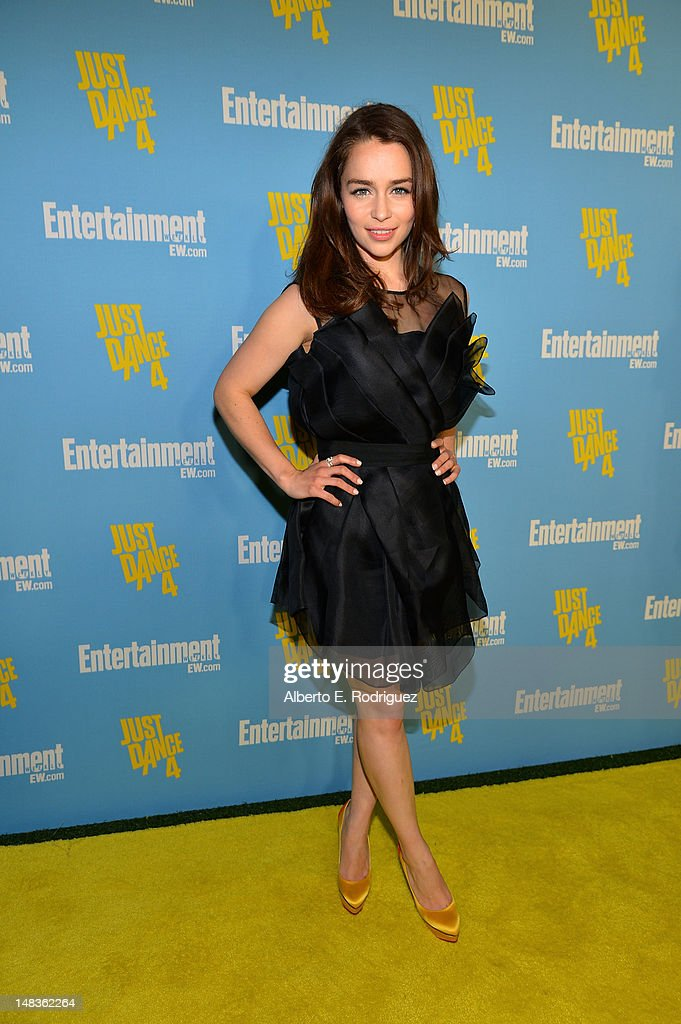Actress Emilia Clarke attends Entertainment Weekly's 6th Annual Comic-Con Celebration sponsored by Just Dance 4 held at the Hard Rock Hotel San Diego on July 14, 2012 in San Diego, California.