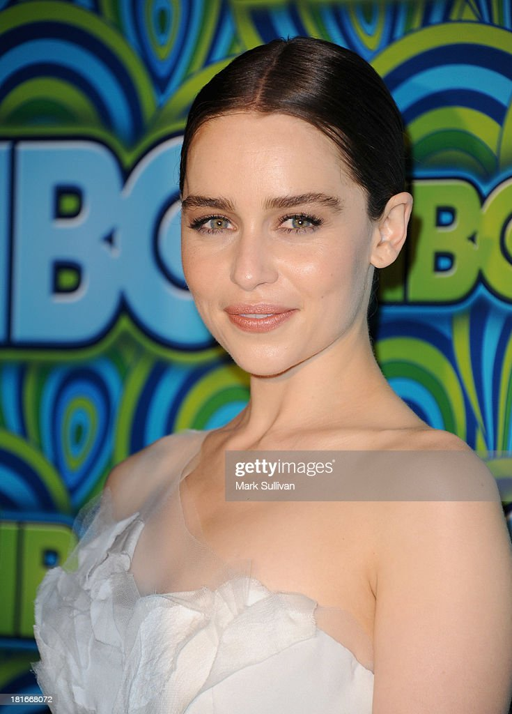 Actress <a gi-track='captionPersonalityLinkClicked' href=/galleries/search?phrase=Emilia+Clarke&family=editorial&specificpeople=7426687 ng-click='$event.stopPropagation()'>Emilia Clarke</a> attends HBO's Post Emmy Awards party at Pacific Design Center on September 22, 2013 in West Hollywood, California.