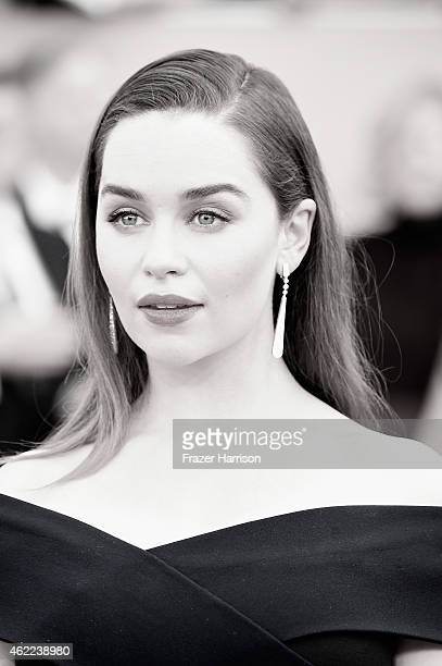 Actress Emilia Clarke attends the 21st Annual Screen Actors Guild Awards at The Shrine Auditorium on January 25 2015 in Los AngelesCalifornia