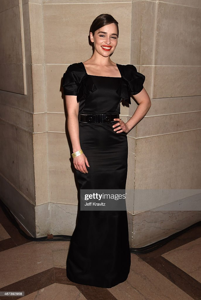Actress Emilia Clarke attends the after party for HBO's 'Game of Thrones' Season 5 at San Francisco City Hall on March 23 2015 in San Francisco...