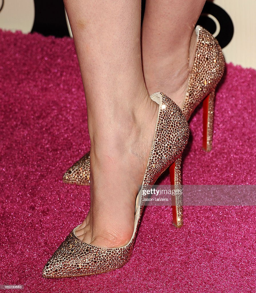 Actress Emilia Clarke (shoe detail) attends the HBO after party at the 70th annual Golden Globe Awards at Circa 55 restaurant at the Beverly Hilton Hotel on January 13, 2013 in Los Angeles, California.