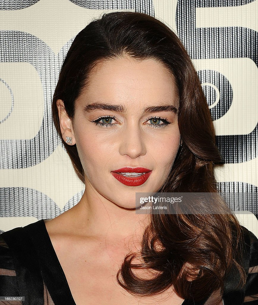 Actress Emilia Clarke attends the HBO after party at the 70th annual Golden Globe Awards at Circa 55 restaurant at the Beverly Hilton Hotel on January 13, 2013 in Los Angeles, California.