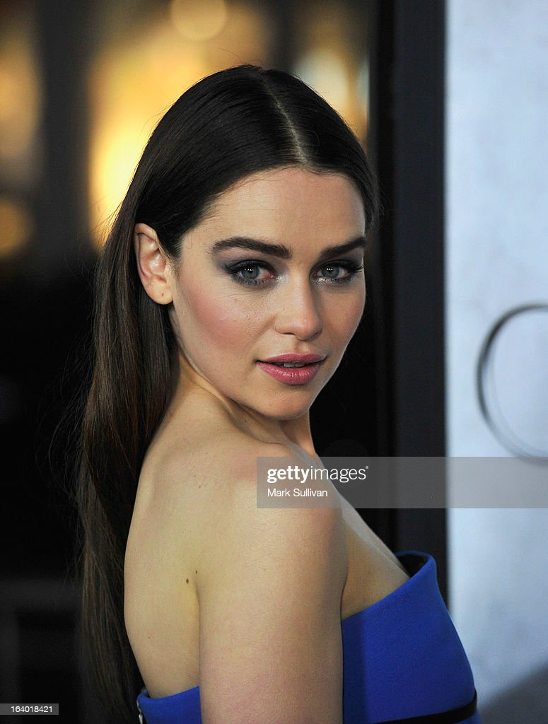 Actress Emilia Clarke attends the Los Angeles premiere of HBO's 'Game Of Thrones' Season 3 at TCL Chinese Theatre on March 18, 2013 in Hollywood, California.