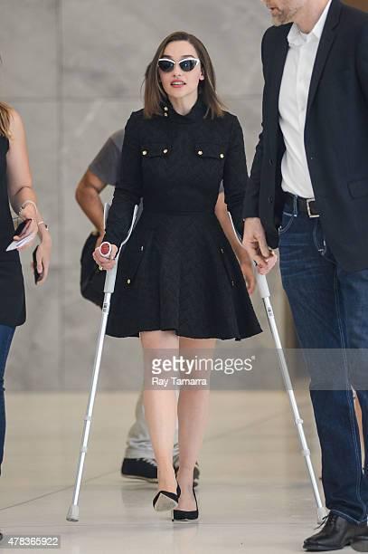 Actress Emilia Clarke leaves the Sirius XM Studios on June 24 2015 in New York City
