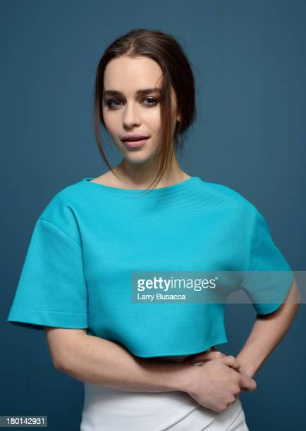 Actress Emilia Clarke of 'Don Hemingway' poses at the Guess Portrait Studio during 2013 Toronto International Film Festival on September 9 2013 in...