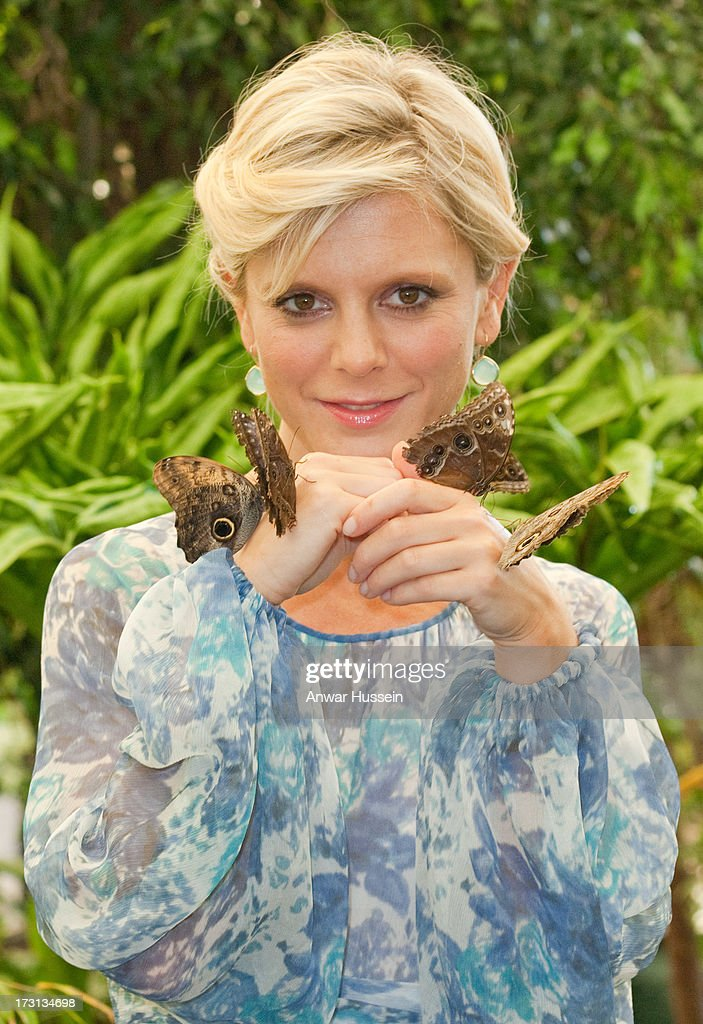 Actress <a gi-track='captionPersonalityLinkClicked' href=/galleries/search?phrase=Emilia+Fox&family=editorial&specificpeople=210768 ng-click='$event.stopPropagation()'>Emilia Fox</a> poses with butterflies in the RHS Butterfly Dome with Eden at the RHS Hampton Court Flower Show on July 8, 2013 in London, England.