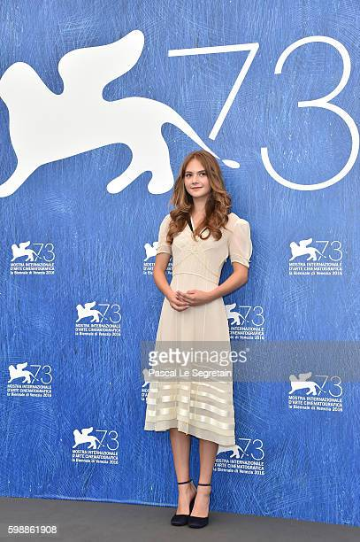 Actress Emilia Jones attends the photocall of 'Brimstone' during the 73rd Venice Film Festival at on September 3 2016 in Venice Italy