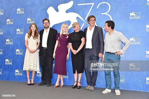 Actress Emilia Jones director Martin Koolhoven actress Dakota Fanning producer Els Vandervorst producer Uwe Schott and Paul Trijbits attend the...