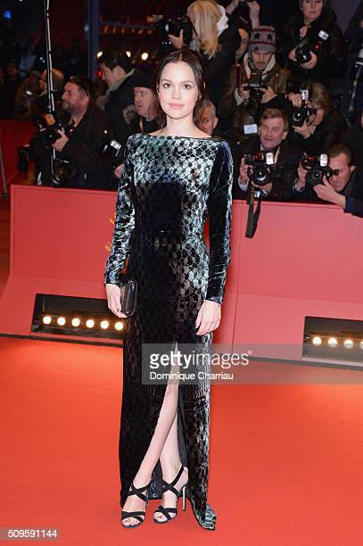 Actress Emilia Schuele attends the 'Hail Caesar' premiere during the 66th Berlinale International Film Festival Berlin at Berlinale Palace on...
