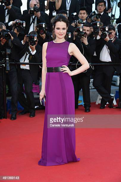Actress Emilia Schuele attends the 'How To Train Your Dragon 2' Premiere at the 67th Annual Cannes Film Festival on May 16 2014 in Cannes France