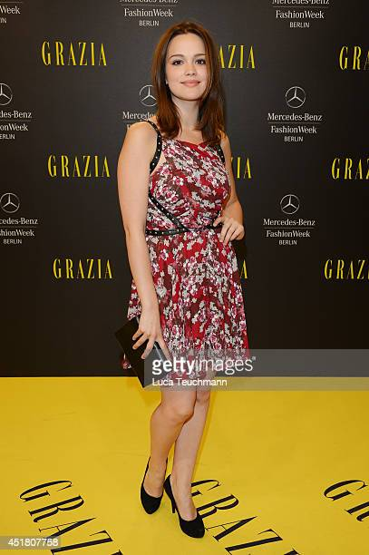 Actress Emilia Schule arrives for the Opening Night by Grazia fashion show during the MercedesBenz Fashion Week Spring/Summer 2015 at Erika Hess...
