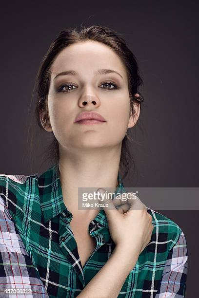 Actress Emilia Schule is photographed for Self Assignment on July 1 2014 in Munich France