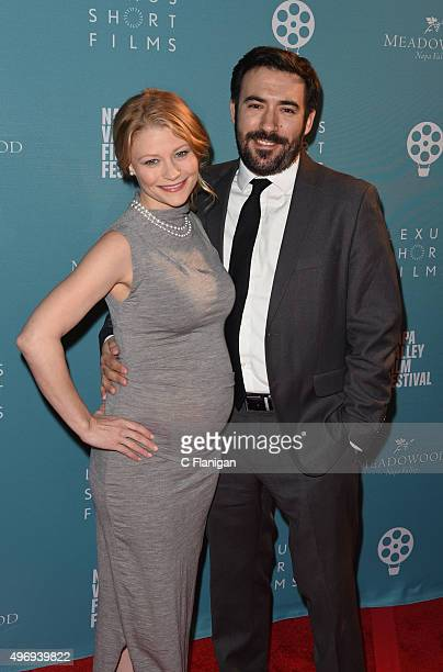 Actress Emilie De Ravin and boyfriend Eric Bilitch attend the 2015 Napa Valley Film Festival Gala at the Lincoln Theatre on November 12 2015 in...