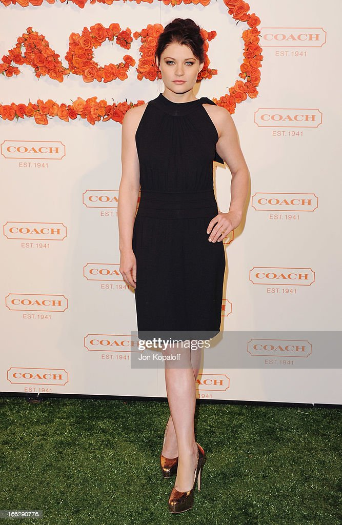 Actress Emilie de Ravin arrives at the 3rd Annual Coach Evening To Benefit Children's Defense Fund at Bad Robot on April 10, 2013 in Santa Monica, California.