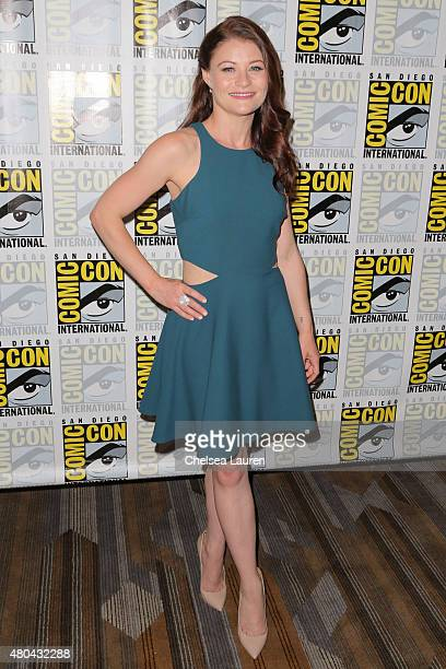 Actress Emilie de Ravin arrives at the 'Once Upon a Time' press room on July 11 2015 in San Diego California
