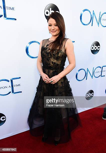 Actress Emilie de Ravin attends a screening of ABC's 'Once Upon A Time' Season 4 at the El Capitan Theatre on September 21 2014 in Hollywood...