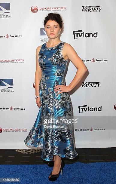 Actress Emilie de Ravin attends the TMA 2015 Heller Awards at the Hyatt Regency Century Plaza on May 28 2015 in Century City California