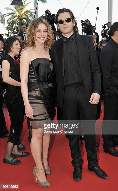 Actress Emilie Dequenne and singer Benjamin Biolay attend the premiere of 'Biutiful' held at the Palais des Festivals during the 63rd Annual...