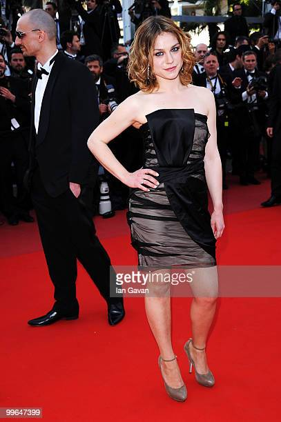 Actress Emilie Dequenne attends 'Biutiful' Premiere at the Palais des Festivals during the 63rd Annual Cannes Film Festival on May 17 2010 in Cannes...