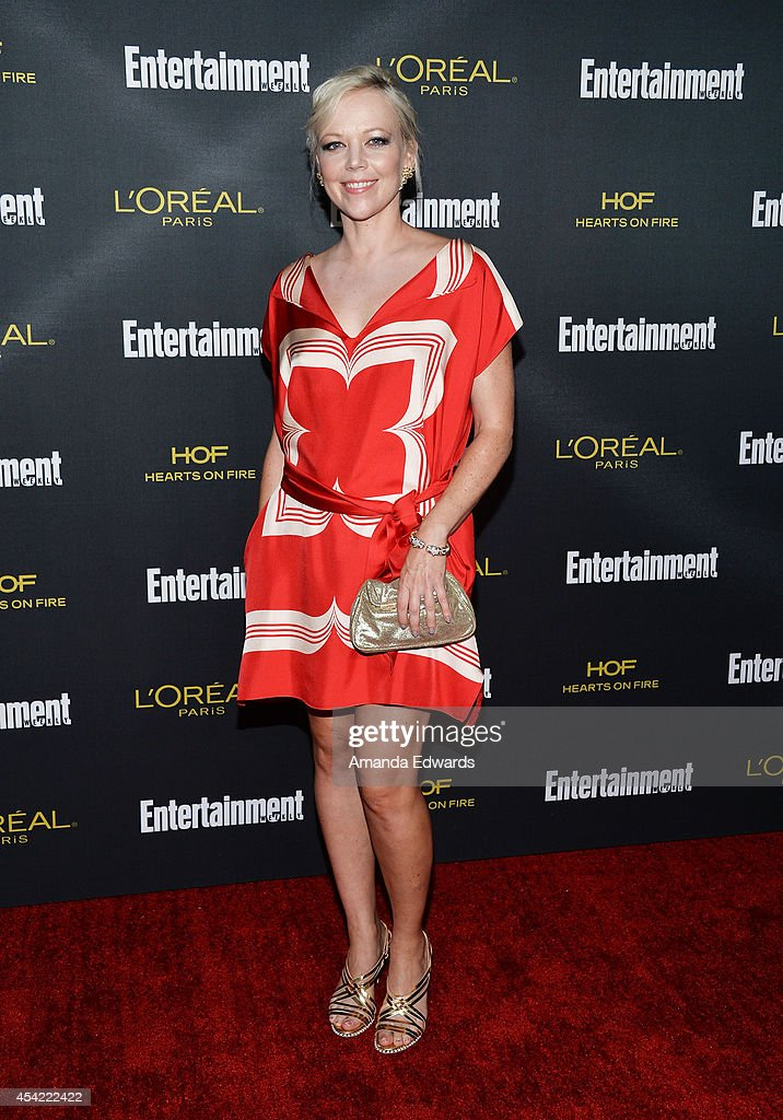 Actress Emily Bergl arrives at the 2014 Entertainment Weekly Pre-Emmy Party at Fig & Olive Melrose Place on August 23, 2014 in West Hollywood, California.