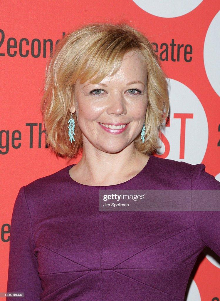 Actress Emily Bergl attends the 'Lonely, I'm Not' Off-Broadway opening night after party at the HB Burger on May 7, 2012 in New York City.