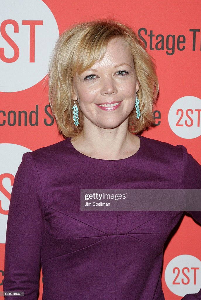 Actress <a gi-track='captionPersonalityLinkClicked' href=/galleries/search?phrase=Emily+Bergl&family=editorial&specificpeople=742762 ng-click='$event.stopPropagation()'>Emily Bergl</a> attends the 'Lonely, I'm Not' Off-Broadway opening night after party at the HB Burger on May 7, 2012 in New York City.