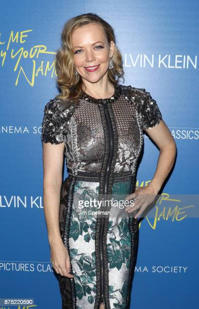Actress Emily Bergl attends the screening of Sony Pictures Classics' 'Call Me By Your Name' hosted by Calvin Klein and The Cinema Society at Museum...