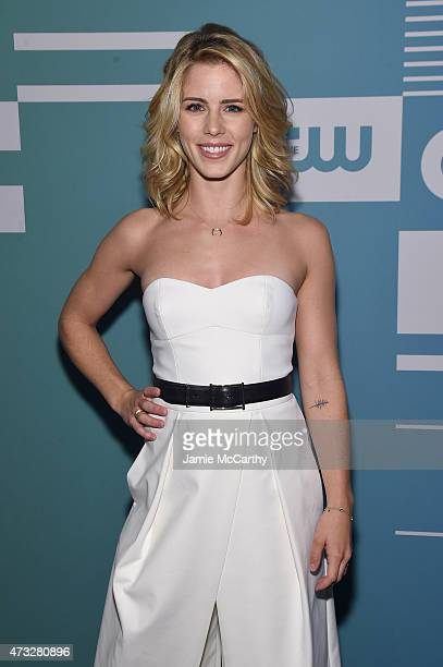 Actress Emily Bett Rickards attends the CW Network's 2015 Upfront at the London Hotel on May 14 2015 in New York City