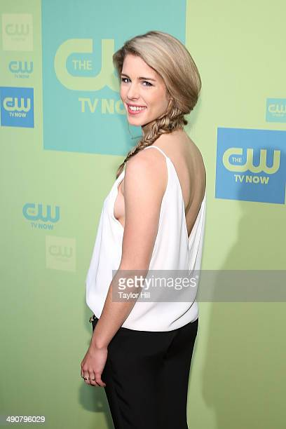 Actress Emily Bett Rickards attends the CW Network's New York 2014 Upfront Presentation at The London Hotel on May 15 2014 in New York City