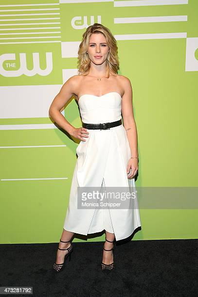 Actress Emily Bett Rickards attends The CW Network's New York 2015 Upfront Presentation at The London Hotel on May 14 2015 in New York City