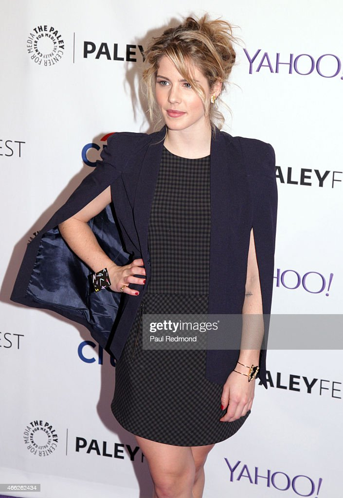 Actress Emily Bett Rickards attends The Paley Center For Media's 32nd Annual PALEYFEST LA - 'Arrow' And 'The Flash' at Dolby Theatre on March 14, 2015 in Hollywood, California.
