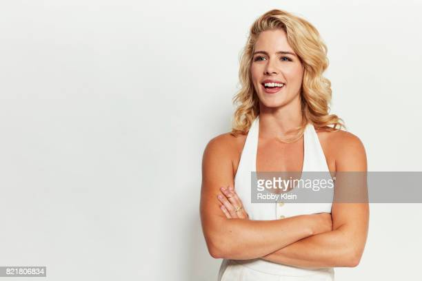 Actress Emily Bett Rickards from CW's 'Arrow' poses for a portrait during ComicCon 2017 at Hard Rock Hotel San Diego on July 22 2017 in San Diego...