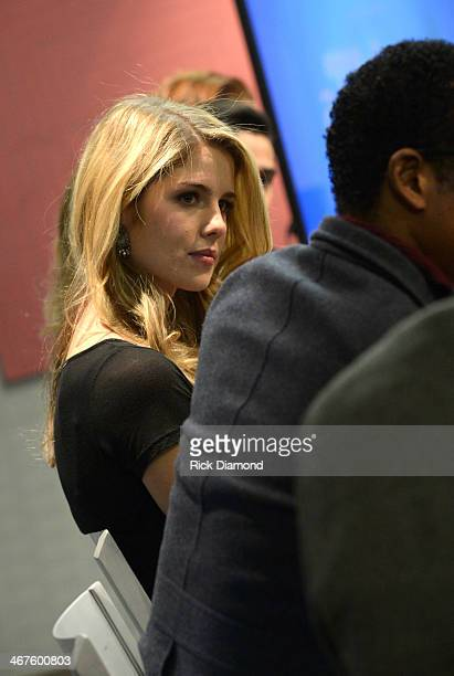Actress Emily Bett Rickards of Arrow speaks on the Inside Acting Acting for TV panel at SCAD Atlanta on February 7 2014 in Atlanta Georgia