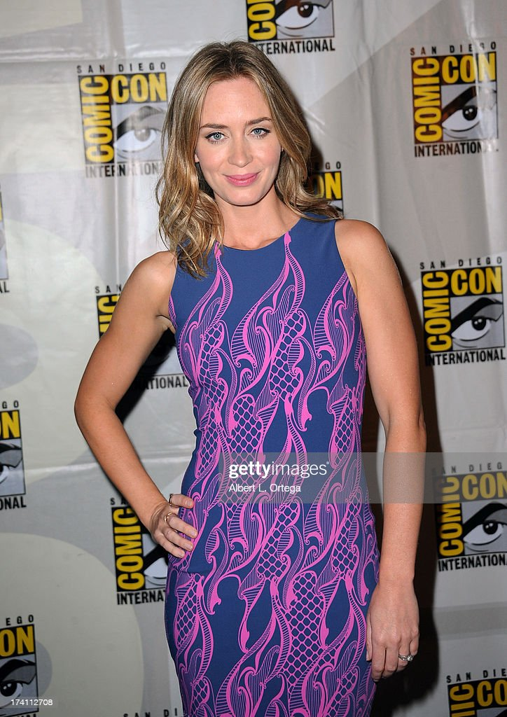 Actress Emily Blunt appears at the Warner Bros. and Legendary Pictures preview during Comic-Con International 2013 at San Diego Convention Center on July 20, 2013 in San Diego, California.