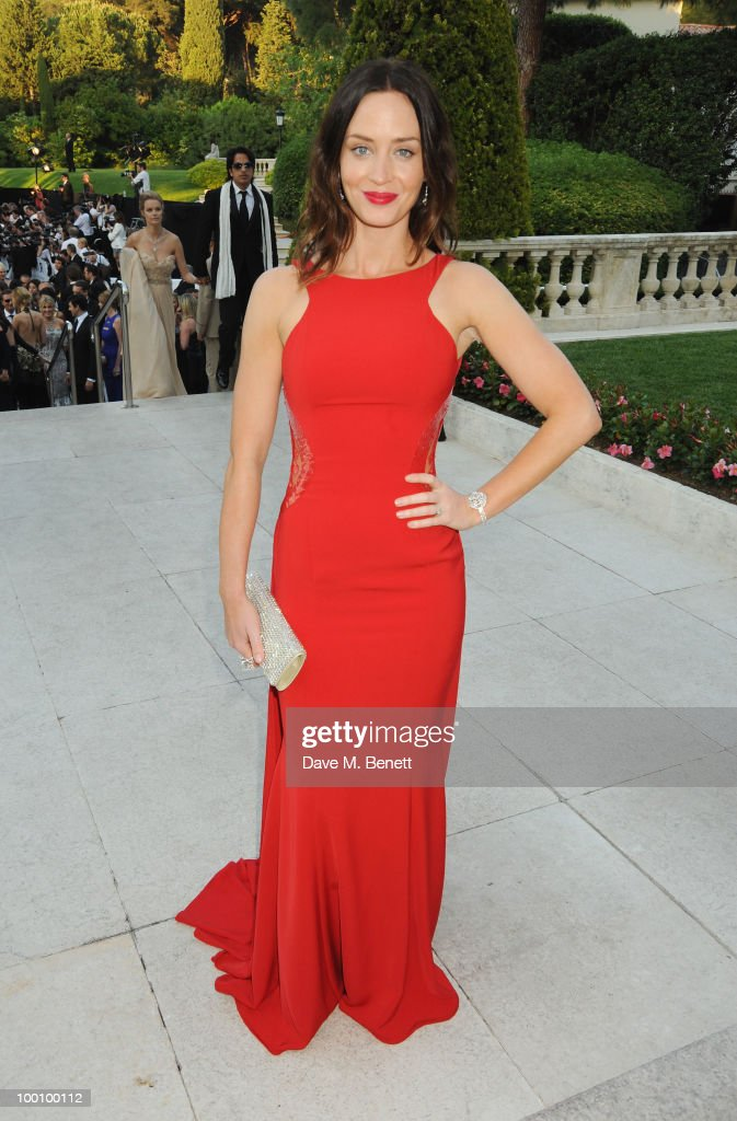 Actress Emily Blunt arrives at amfAR's Cinema Against AIDS 2010 benefit gala at the Hotel du Cap on May 20, 2010 in Antibes, France.