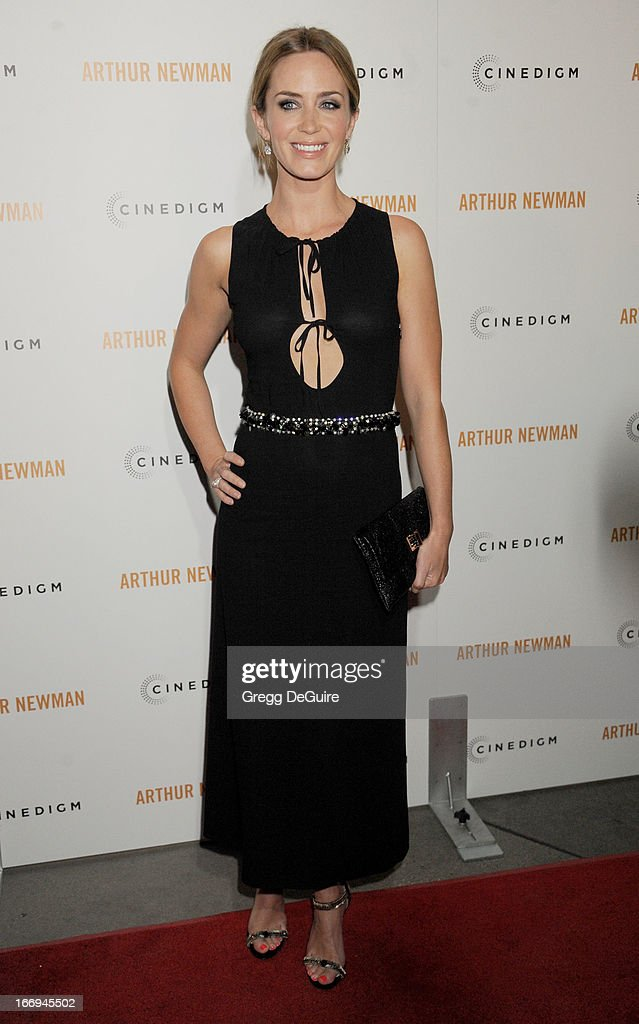 Actress Emily Blunt arrives at the Los Angeles premiere of 'Arthur Newman' at ArcLight Hollywood on April 18, 2013 in Hollywood, California.
