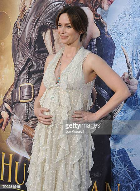 Actress Emily Blunt arrives at the Los Angeles Premiere Of Universal Pictures' 'The Huntsman Winter's War' on April 11 2016 in Westwood California