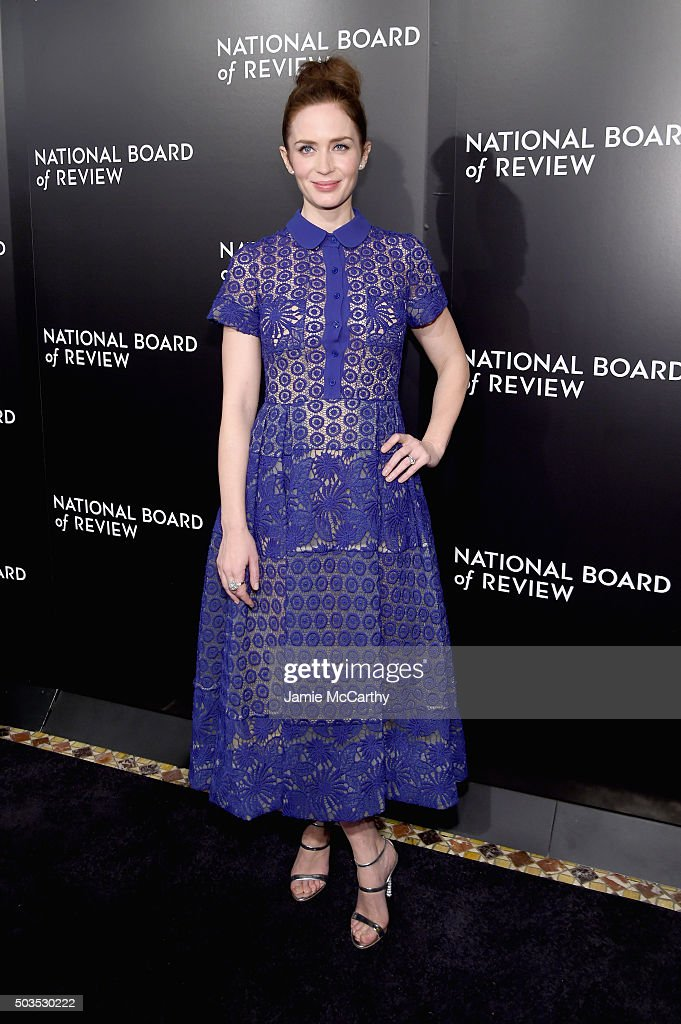 Actress <a gi-track='captionPersonalityLinkClicked' href=/galleries/search?phrase=Emily+Blunt&family=editorial&specificpeople=213480 ng-click='$event.stopPropagation()'>Emily Blunt</a> attends 2015 National Board of Review Gala at Cipriani 42nd Street on January 5, 2016 in New York City.