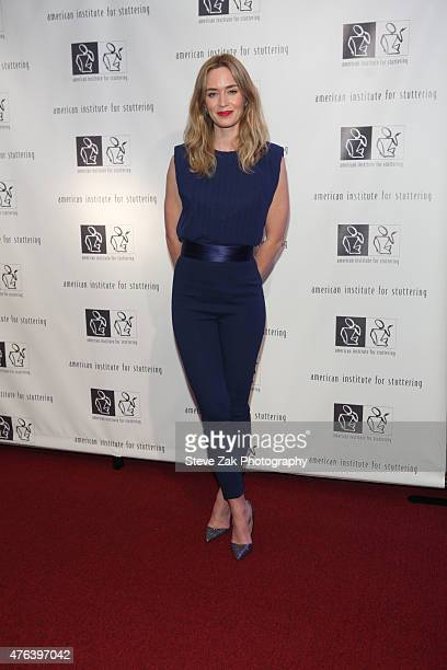 Actress Emily Blunt attends 9th Annual American Institute For Stuttering Benefit Gala at The Lighthouse at Chelsea Piers on June 8 2015 in New York...