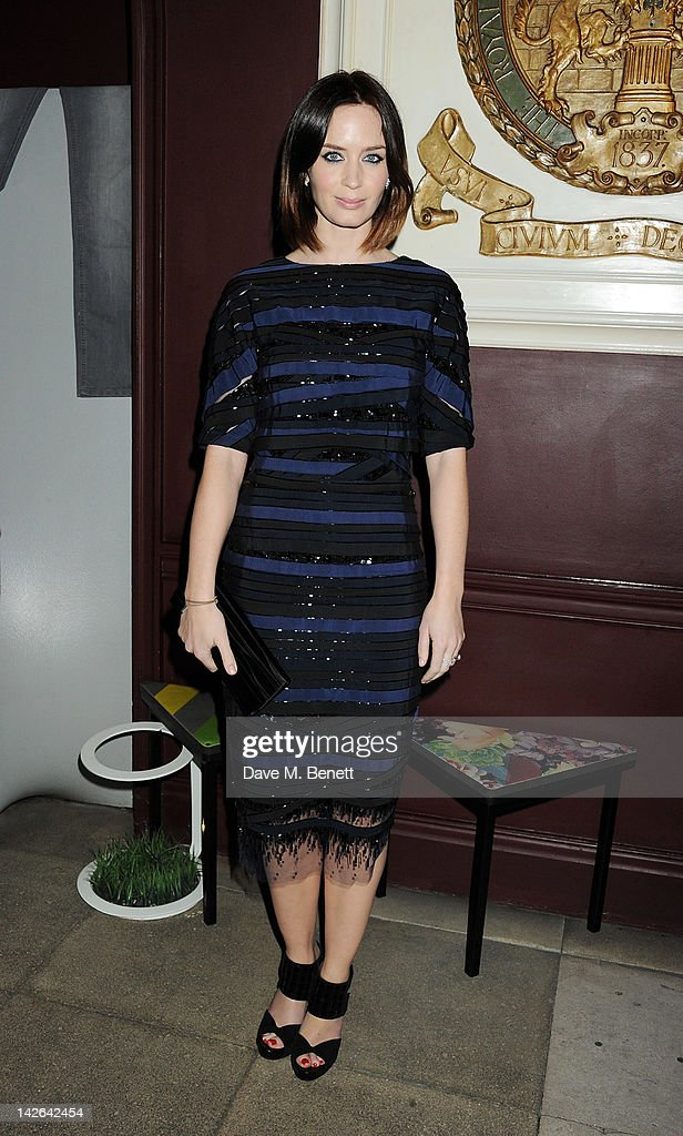 Actress Emily Blunt attends an after party celebrating the European Premiere of 'Salmon Fishing In The Yemen' at Sketch on April 10 2012 in London...