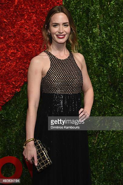Actress Emily Blunt attends God's Love We Deliver Golden Heart Awards at Spring Studio on October 15 2015 in New York City