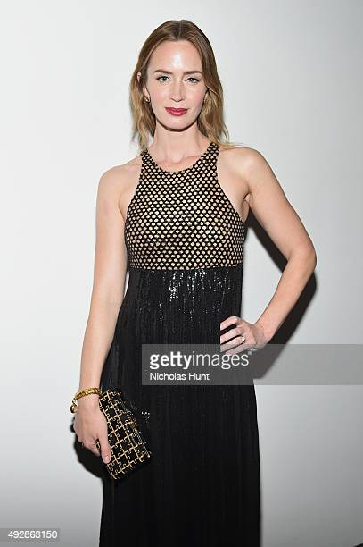 Actress Emily Blunt attends God's Love We Deliver Golden Heart Awards at Spring Studio on October 15 2015 in New York