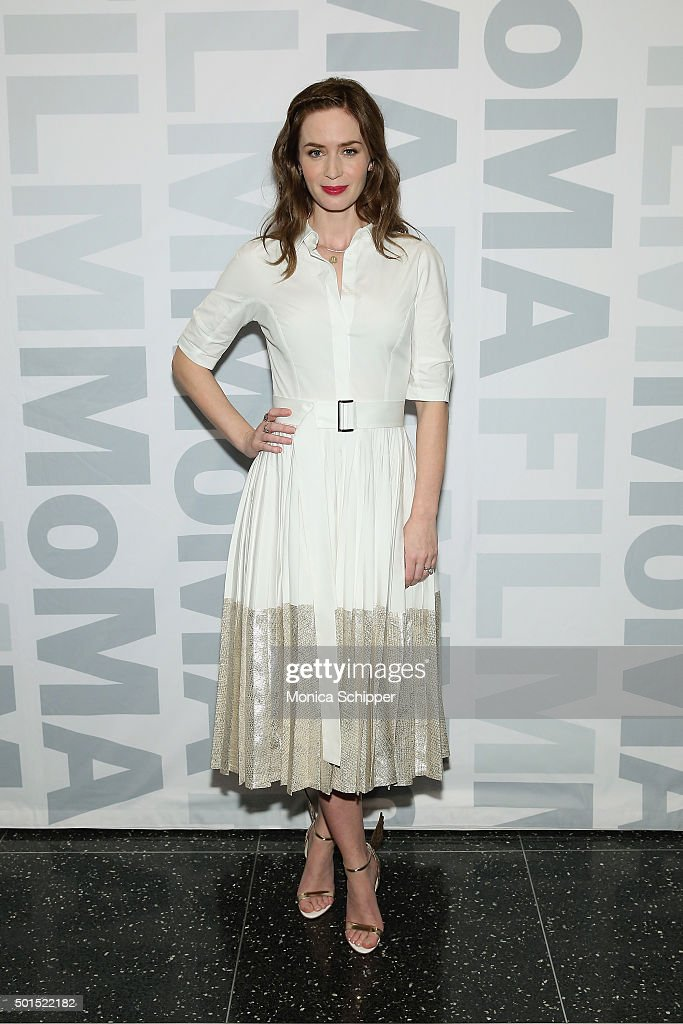 Actress <a gi-track='captionPersonalityLinkClicked' href=/galleries/search?phrase=Emily+Blunt&family=editorial&specificpeople=213480 ng-click='$event.stopPropagation()'>Emily Blunt</a> attends MoMA Film's THE CONTENDERS Screening Of SICARIO at MOMA on December 15, 2015 in New York City.