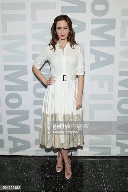 Actress Emily Blunt attends MoMA Film's THE CONTENDERS Screening Of SICARIO at MOMA on December 15 2015 in New York City