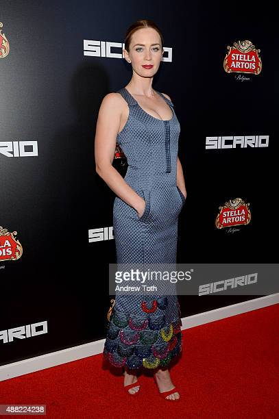 Actress Emily Blunt attends 'Sicario' New York Premiere at Museum of Modern Art on September 14 2015 in New York City