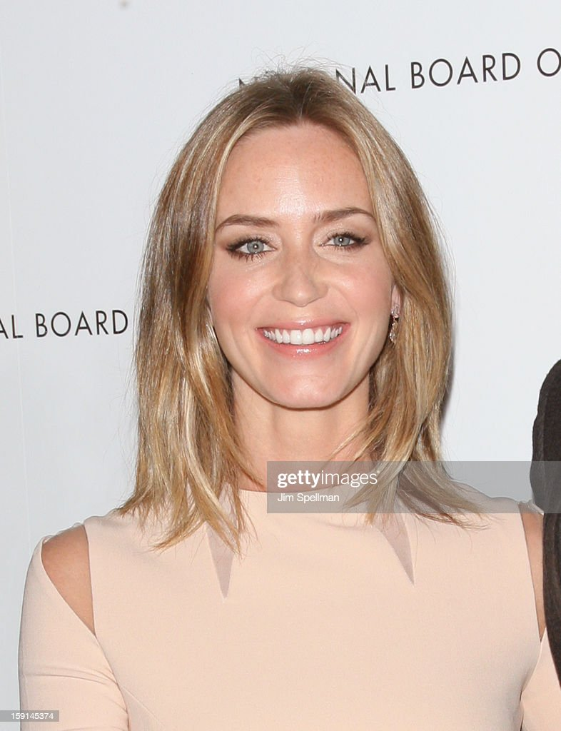 Actress Emily Blunt attends the 2013 National Board Of Review Awards Gala at Cipriani Wall Street on January 8, 2013 in New York City.